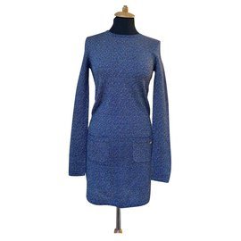 Chanel-Byzance metallic dress-Blue