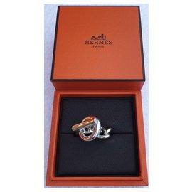 Hermès-Croisette medium model-Silvery