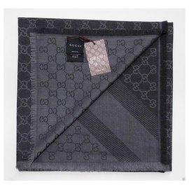Gucci-sciarpa stola unisex GUCCI.-Dark grey