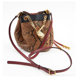 Chloé-Chloe python-Light brown