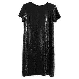 Chanel-PF18 Sequin dress-Black