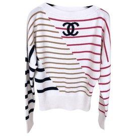 Chanel-NEW 2020 Cruise sweater-Cream