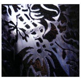 Louis Vuitton-AW17 Jupe en jacquard enduit et dentelle-Noir