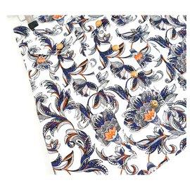 Louis Vuitton-PF17 Minijupe imprimée en coton-Multicolore