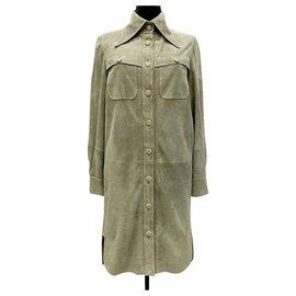Chanel-iconic Make Fashion Not War suit-Khaki