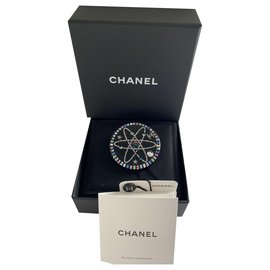 Chanel-Chanel Planet brooch in resin .-Black,Multiple colors