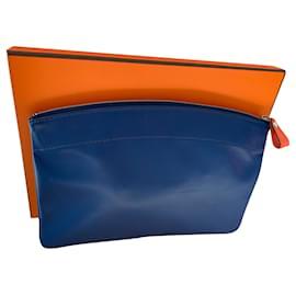 Hermès-Pochettes-Bleu,Orange