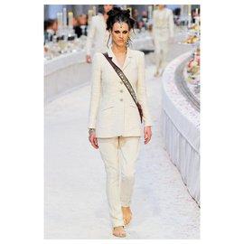 Chanel-Paris-Bombay runway jacket-Cream