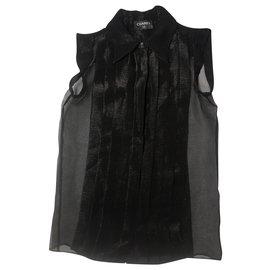 Chanel-Blouse-Black