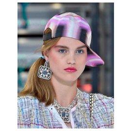 Chanel-SS17 Silk Cap-Pink