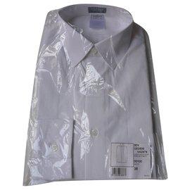 Chanel-CHANEL New white cotton poplin shirt T38-White