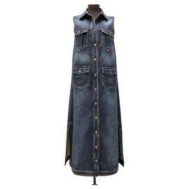 Chanel-new Dallas denim dress-Dark blue