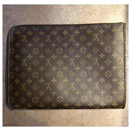 Louis Vuitton-Porte documents, wallet-Brown