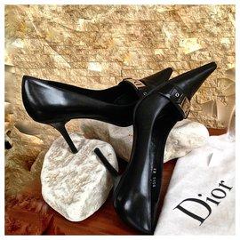 Dior-Escarpins DIOR en cuir noir-Noir