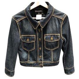 Chanel-5.5K$ Dallas jacket-Dark blue