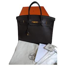Hermès-HERMES BIRKIN BAG 40-Dark brown
