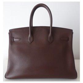 Hermès-HERMES BIRKIN BAG 35 Brown-Brown