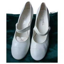 Chanel-CHANEL Sandales Mary Janes La Pausa 2018 T41 IT-White