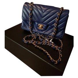 Chanel-Mini flap-Blue