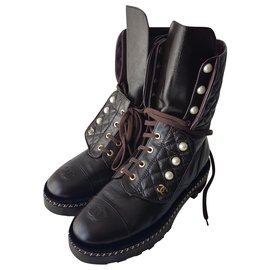 Chanel-Chanel boots with pearls-Other