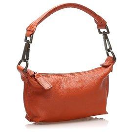 Mulberry-Mulberry Orange Leather Handbag-Orange