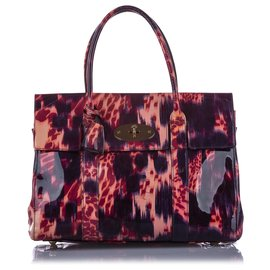 Mulberry-Mulberry Blue Printed Bayswater Patent Leather Handbag-Blue,Multiple colors
