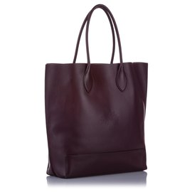Mulberry-Mulberry Red Leather Tote Bag-Red,Dark red