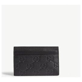 Gucci-Gucci LA patch card holder-Black