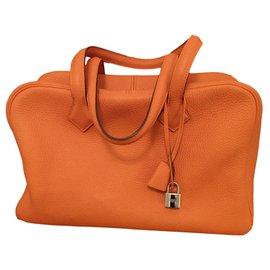 Hermès-Victoria II bag-Orange