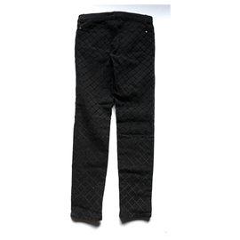 Chanel-Quilt Jeans-Black