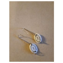 Dior-Boucles d'oreilles-Blanc