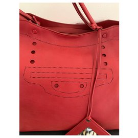 Balenciaga-City XL Blackout-Red