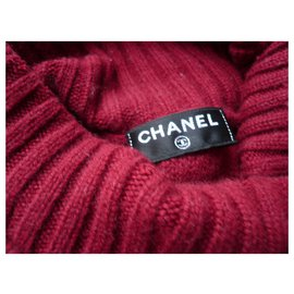 Chanel-CHANEL Turtleneck Red cashmere Coco Neige Chanel Collection-Red