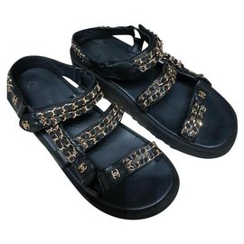Chanel-Chanel dad sandals-Black