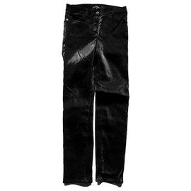 Chanel-Lurex Skinny Pants-Black