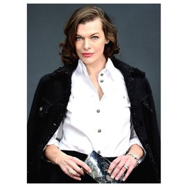 Chanel-iconic chain trim jacket-Black