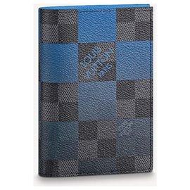 Louis Vuitton-LV passport cover new-Blue