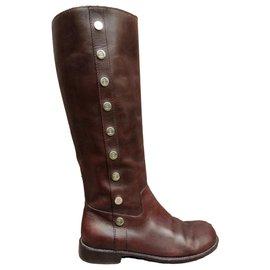 Céline-Céline p boots 38-Dark brown