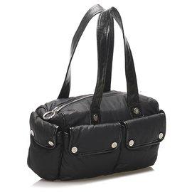 Céline-Celine Black Nylon Handbag-Black