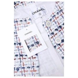 Chanel-6,5K$ new tweed jacket-Blue