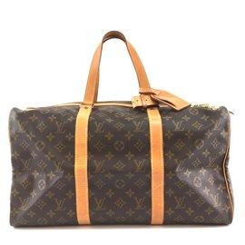 Louis Vuitton-Louis Vuitton Sac souple 45 Toile monogramme-Marron