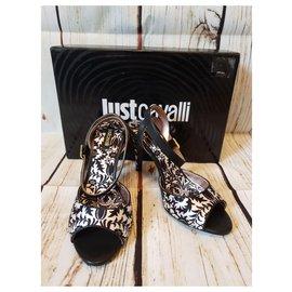 Just Cavalli-Sandals-Black,White