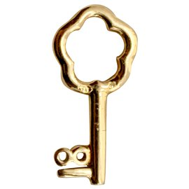Chanel-Diamond and gold 18k key charm-Golden