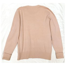 Chanel-Lucky charms long cashmere sweater-Pink
