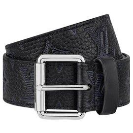 Louis Vuitton-LV signature pocket belt-Black