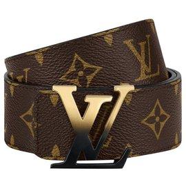 Louis Vuitton-LV belt spray logo-Brown