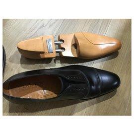 JM Weston-Oxford toe cap-Black