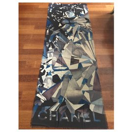 Chanel-STOLE CHANEL CASHMERE-Navy blue