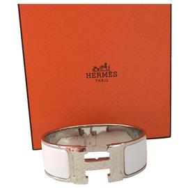 Hermès-Bracelet Hermès modèle Clic Clac H-Argenté