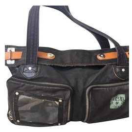 Diesel-Weekend bag and / or schoolbag-Brown
